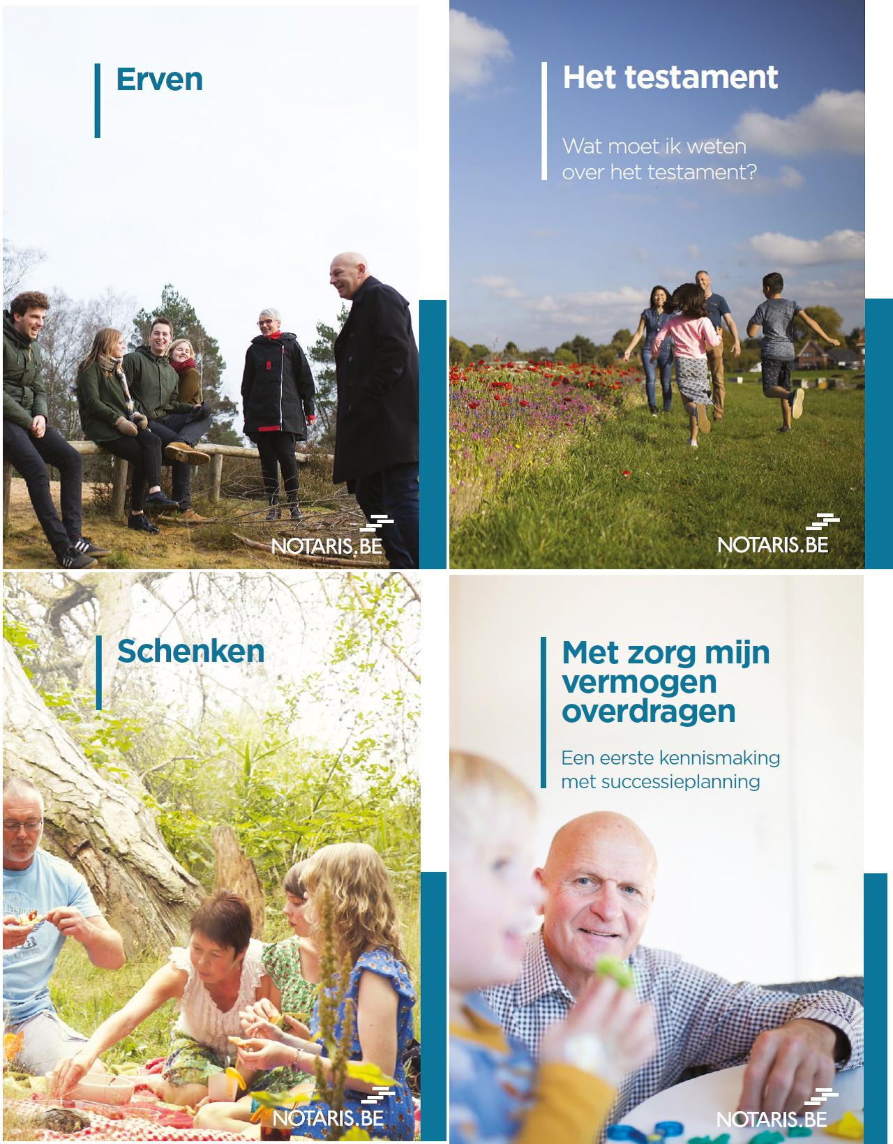 Alles wat je moet weten over je nalatenschap: 4 nieuwe brochures!