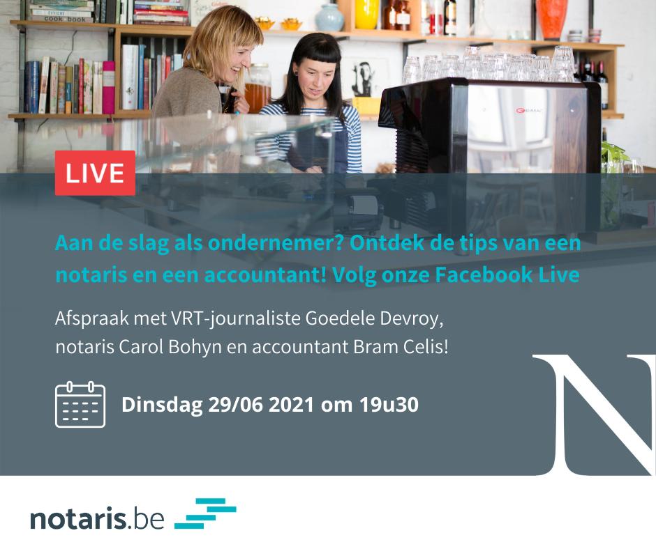 Zit je met vragen over ondernemen? Mis onze Facebook Live niet!